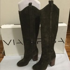 New Via Spiga Women Boots Suede Brown Size 5.5